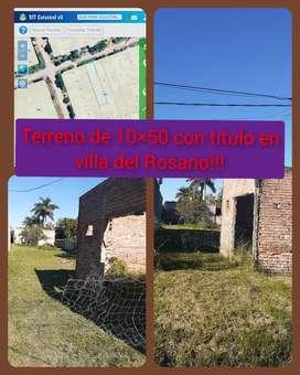 VENDO TERRENO DE 10×50