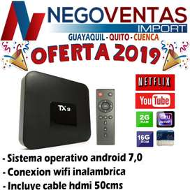 TV BOX TX9 3G X 32 , CONVIERTA SU TELEVISOR EN SMART