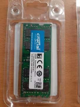 Memorias DDR4 De 16 Gb, Totalmente Nuevas Selladas, Garantizadas Para Portatil