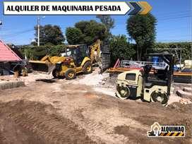 ALQUILER DE MAQUINARIA PESADA: TRACTOR, GALLINETA, MINIEXCAVADORA, RETROEXCAVADORA, EXCAVADORA, RODILLO COMPACTADOR.