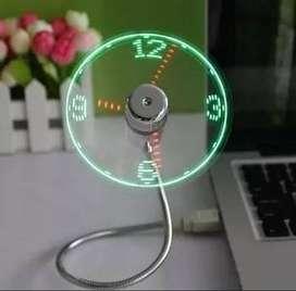 Reloj Ventilador Usb - Novedad$