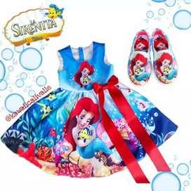 Hermoso Vestido Y Zapatos Personalizados Sirenita