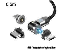 Cable Usb Magnetico Carga Rapida 2.4a Microusb Tipoc iPhone