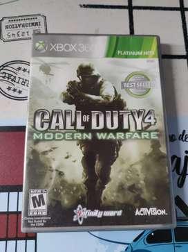 Juego Call of Duty 4 Original Xbox-360 Cambio por otro artículo