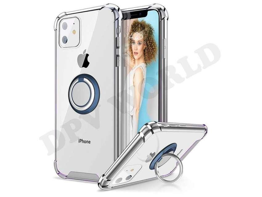 Estuche iPhone 11 iPhone 11 Pro iPhone 11 Pro Max Transparente Con Soporte 0