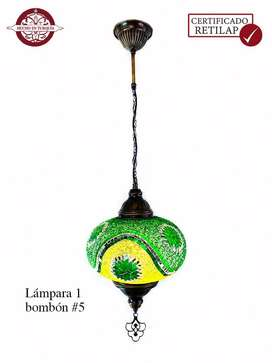 Lámpara turca de techo #5