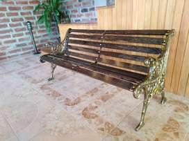 Banca madera de Chonta para jardines parques y exteriores
