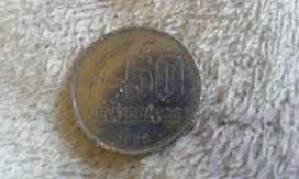 Moneda 50 Centesimos  Del Año 1998 República Oriental Del Uruguay