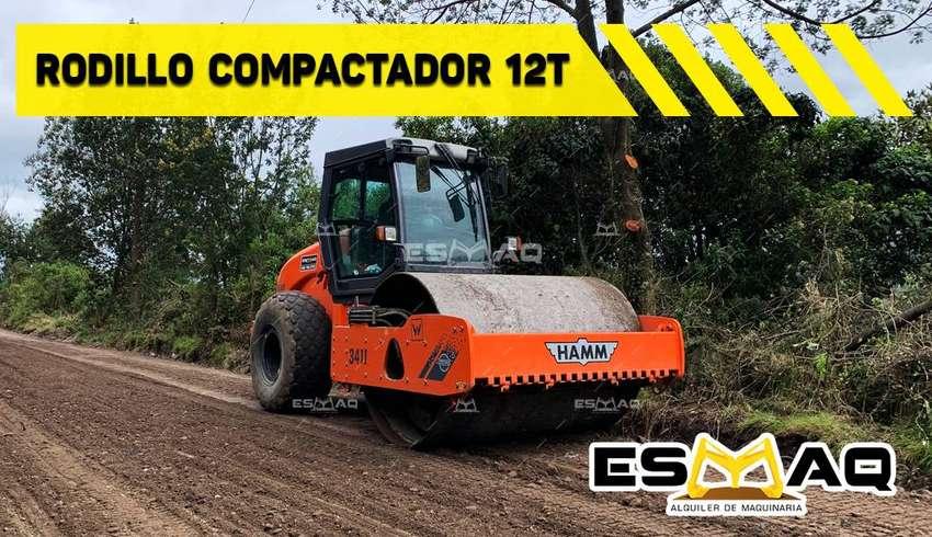 Rodillos compactadores de 3 y 12 toneladas de Renta, Motoniveladora, compactación, Conformación de vías, lastrados. 0