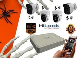 Kit de 4 camaras de seguridad gratis microfono + cable HDMI
