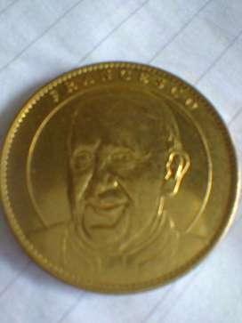 Moneda Medalla Papa Francisco Juan Pablo II- Notre Dame París