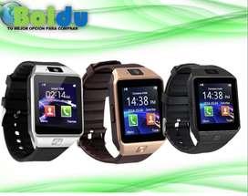Reloj Smartwatch Bluetooth, con Cámara, Micro Sd, Sim Card - W201