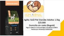 Agility Gold Piel Grandes Adultos 1.5kg