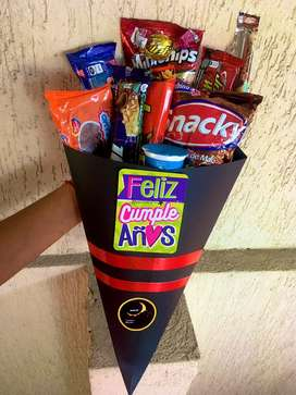 Ramos dulceros amor amistad detalle regalo dulces