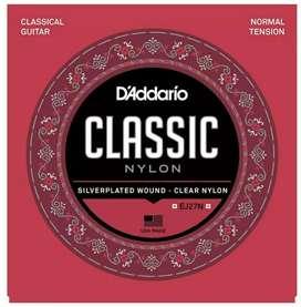 Cuerdas Guitarra Acústica Daddario Classic Nylon,  Tensión Normal