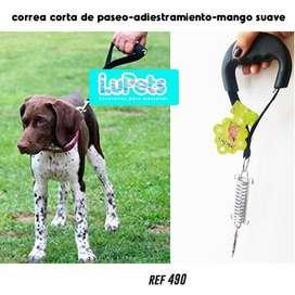 correa corta de paseo adiestramiento perro mascota