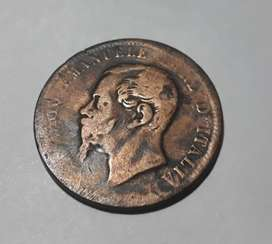 Moneda italiana de 1867, 10 centesimi T,  80