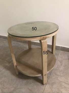 mesa ratona auxiliar patinada