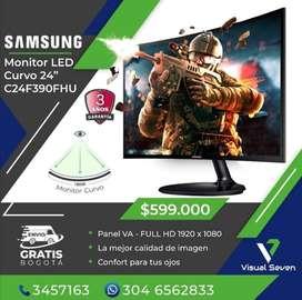 Monitor Curvo 24 pulgadas Samsung