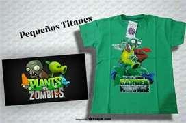 Remeras Plants Vs Zombies