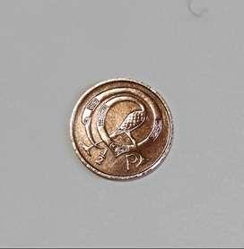 Moneda de Irlanda, medio penny, 1971, VF