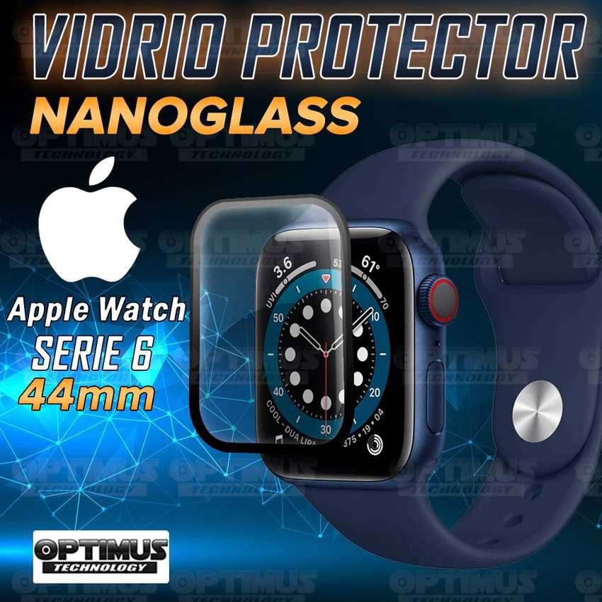 Vidrio Templado Nanoglass Protector Cerámico Para Reloj Inteligente Smartwatch Apple Watch iWatch Serie 6 44m
