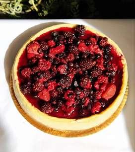 Cheesecake con Frutos del Bosque