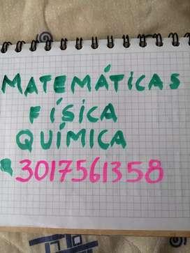 CLASES DE MATEMÁTICAS FÍSICA QUÍMICA. EXAMEN UdeA UNal ICFES