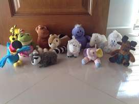 Peluches lote 12 unidades