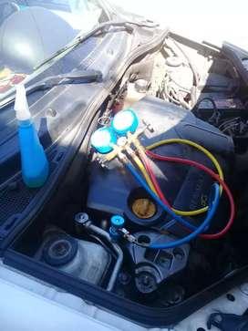 Carga de gas aire acondicionado automotor en caba a domicilio