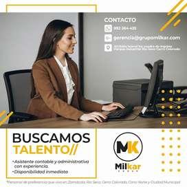 Empresa necesita asistente contable y administrativa  disponibilidad inmediata