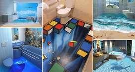 Muro 3d Muchos diseños para baño, alcoba el lugar al gusto Muros