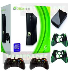 XBOX 360 slim 500 gb  2 controles 100 JUEGOS  factura legal garantia