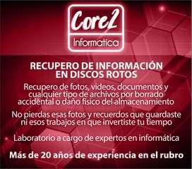 Recupero Información En Pc Dañados (Archivos, Fotos, Etc.)