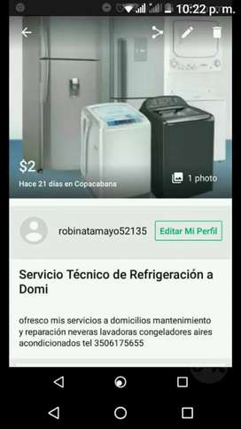 Servicio técnico dé refrigeración á domicilio