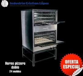 OFERTA Horno pizzero doble 24 moldes