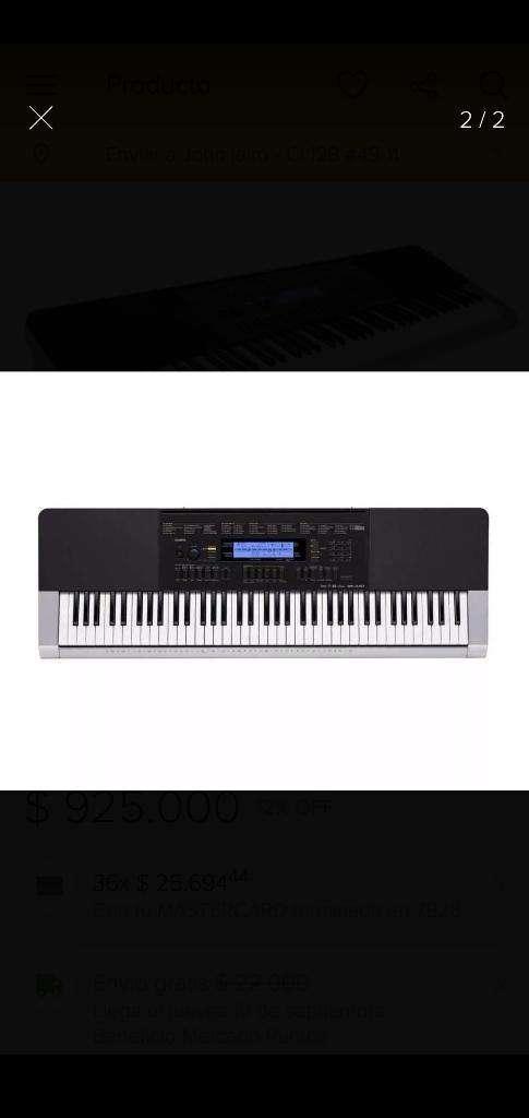 Organeta Casio Wk240 0