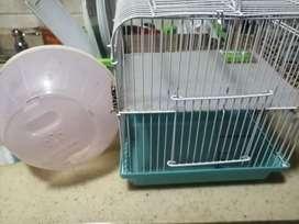 Jaula y bolita para hamster