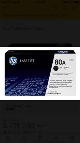 Toner Hewlett-Packard 80A