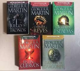 Saga Juego de Tronos. George R.R. MARTIN- 5 Libros