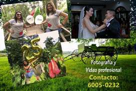 Servicio de video y fotografía para sus eventos
