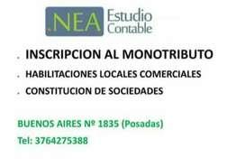 Inscripcion AFIP Monotributo. HABILITACION DE LOCALES