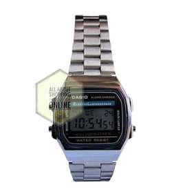 Promo Reloj TIPO Casio Digital Unisex A168 Plata R. Agua