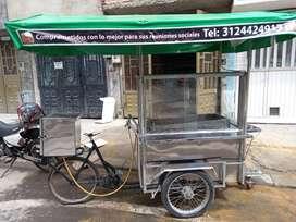Triciclo para vender lechona o comidas rapidas