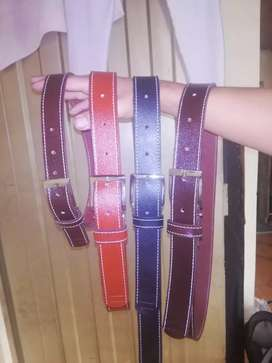 Correas (cinturones) en cuero  para caballero en diferentes tonos..