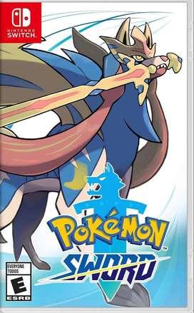 Pokémon Espada en muy buen estado en caja