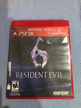 Ps3 Resident Evil 6 Blueray Original.