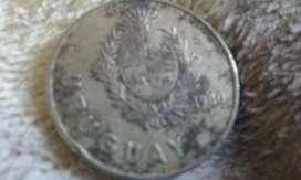Moneda De 1 Peso De Uruguay De 1980