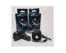 Transmisor X15 Para Carro Bluetooth Adaptador Radio Fm/mp3