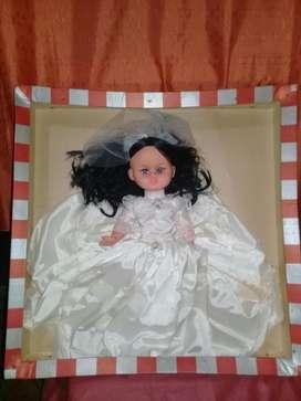 Antigua Muñeca de Novia Años 70 Nueva